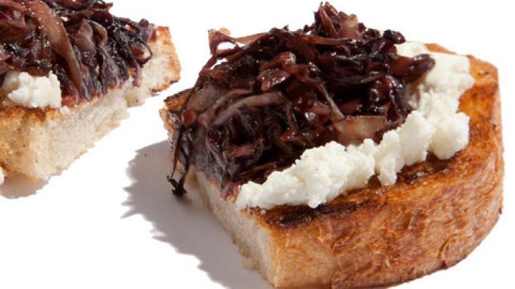 Sautéed Radicchio and Goat Cheese Bruschetta Recipe