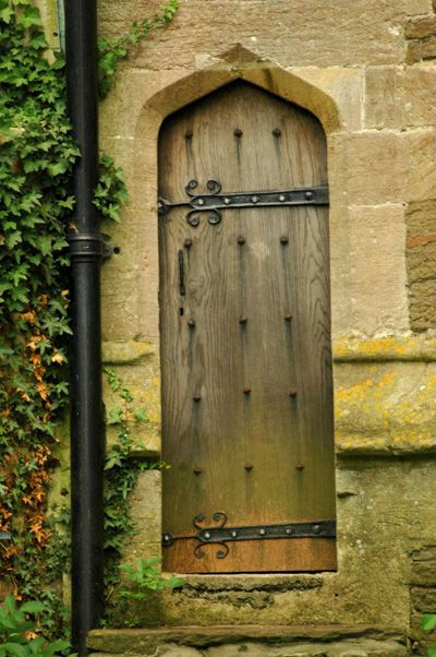 One of the doors of the church in Yate, S. Gloucestershire. According to some locals, this church was built in the 15th century and modified in the early 20th century.