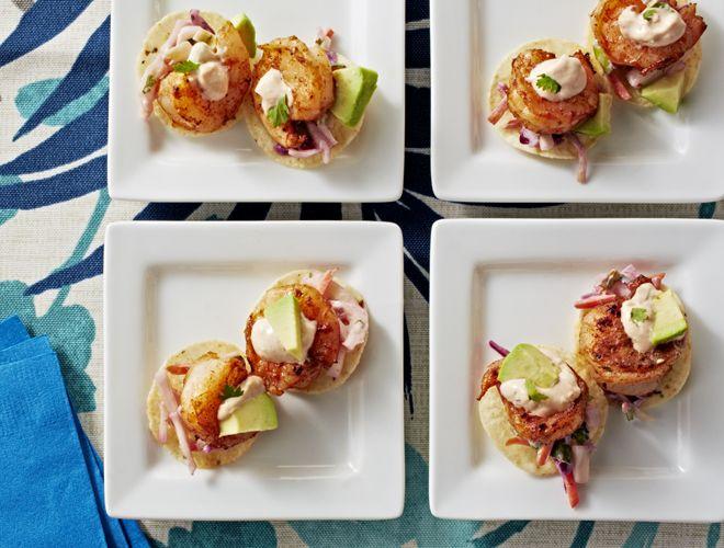 Baja Shrimp Taco Nachos Recipe - Above & Beyond