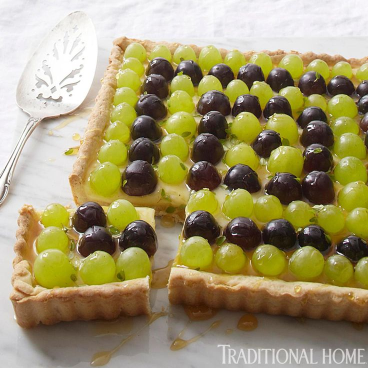 perfect pairing with Sparkling White Grape: Grape-Thyme Tart!