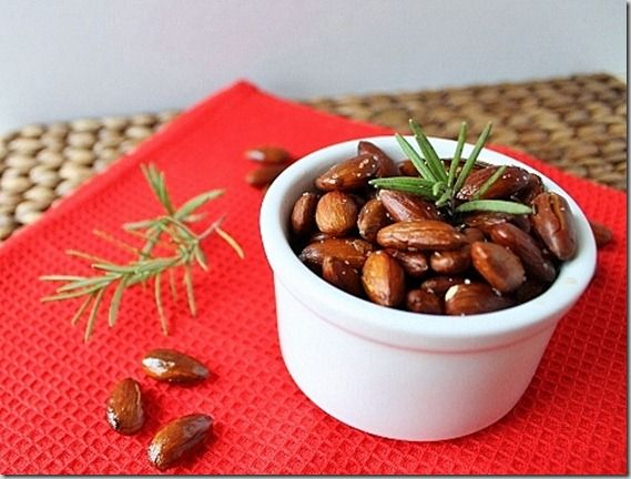 These look so good: spicy rosemary roasted almonds, by @ ...