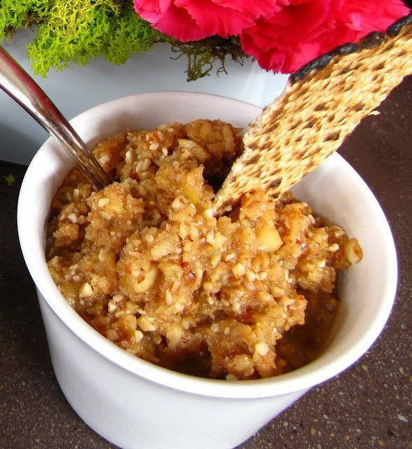 Easy Apples & Almonds Seder Haroset for Passover, Passover Charoset ...