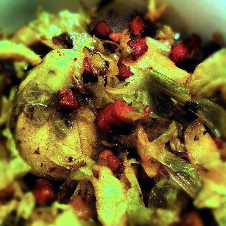 ... Yet Nutritious: Balsamic Braised Brussel Sprouts with Pancetta