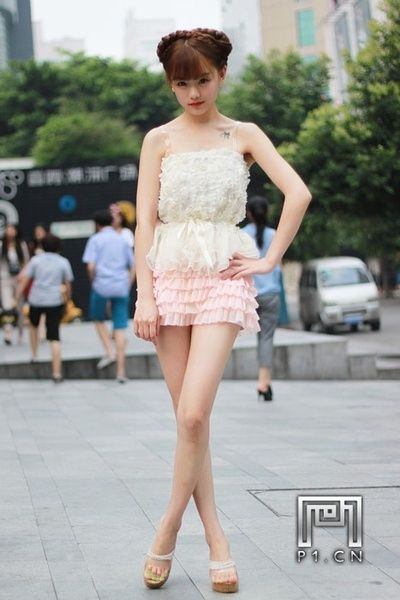 Chinese girl love this look for summer frilly shorts and a loose