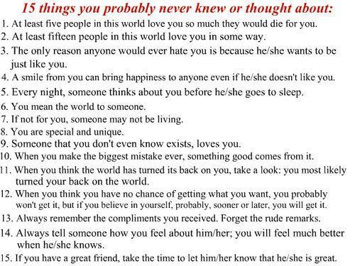 15 things <3