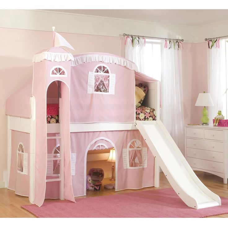 Best Twin Loft Castle Tower Playhouse Bed With Slide And Ladder 400 x 300