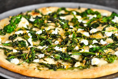broccoli rabe and goat cheese pizza   Mostly vegetarian   Pinterest