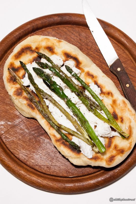 Grilled Asparagus And Ricotta Pizza Recipe — Dishmaps