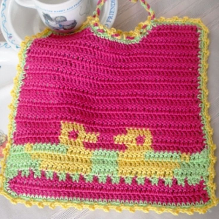 Crocheted Baby Bib Ducks pattern Crochet Baby Bibs ...