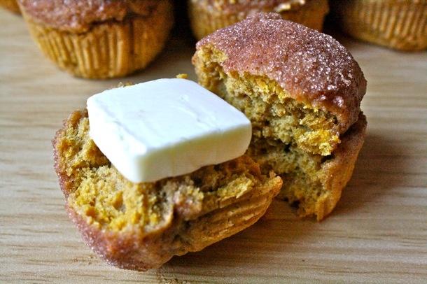 whole wheat pumpkin doughnut muffins   Food   Pinterest