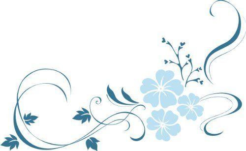 , sticker murali a forma di soffione ME148 Tribal Hibiscus fiore ...