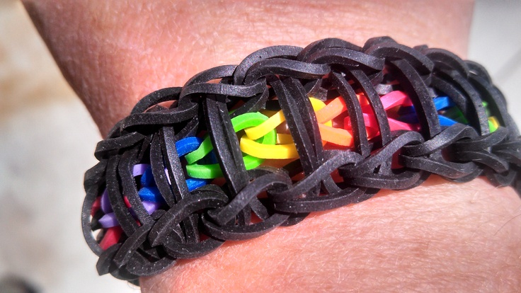 "The Rainbow Loom ""The Flip Side"" Bracelet"