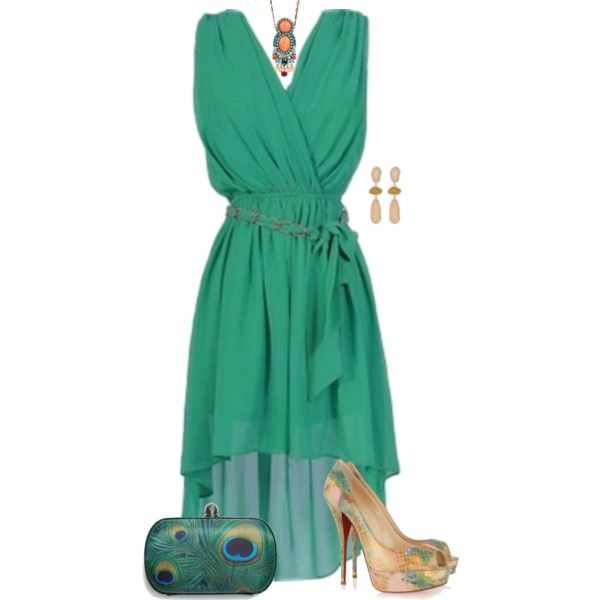 """High low dress"" by bluebells75 on Polyvore"