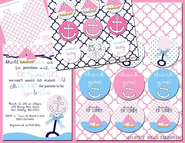 baby girl nautical shower baby bliss pinterest