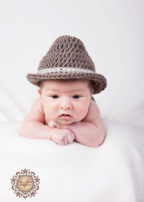 Crochet Baby Hat - Baby Fedora