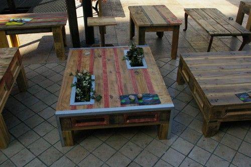 Table basse + jardinière palette  Mobiliers//Décos JARDIN ...