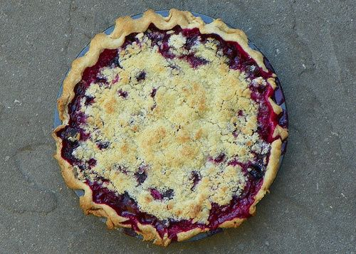 Something Purple...grape pie. I have Concord grapes to use!