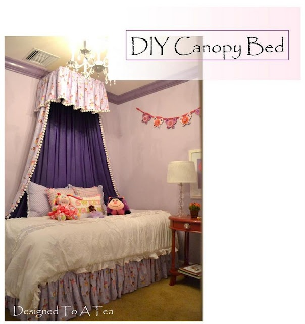 canopy over bed tutorial why didn 39 t i think of that great ideas