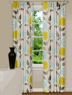 Gray Yellow Teal Curtains Teal Red Curtains