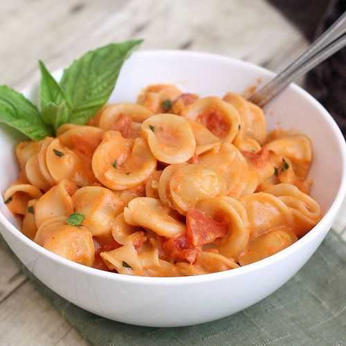Penne alla Vodka--I would reduce the amount of onion next time (it was ...