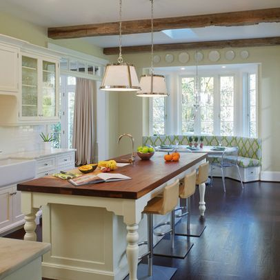 Bay window seating kitchen design pinterest for Bay window remodel