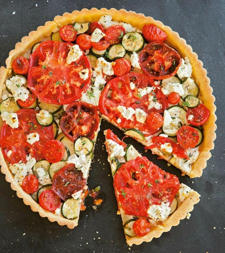 Tomato, Zucchini & Goat Cheese Tart... | Let's Eat: Breakfast! | Pint...