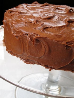 Old Fashioned Chocolate Layer Cake with Sour Cream Chocolate Frosting