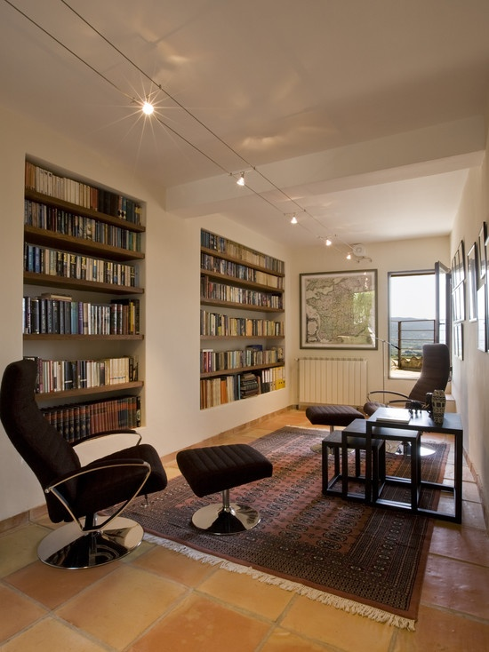 Contemporary built in bookcases design dream home pinterest - Contemporary built in bookshelves ...