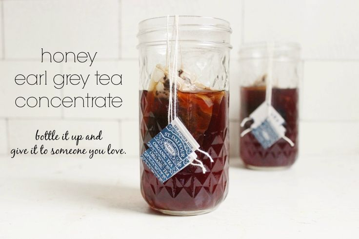 Honey Earl Grey Tea Concentrate | Recipes | Pinterest