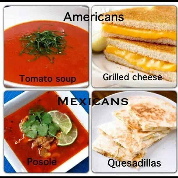 American food vs mexican food so mexican pinterest for American cuisine presentation