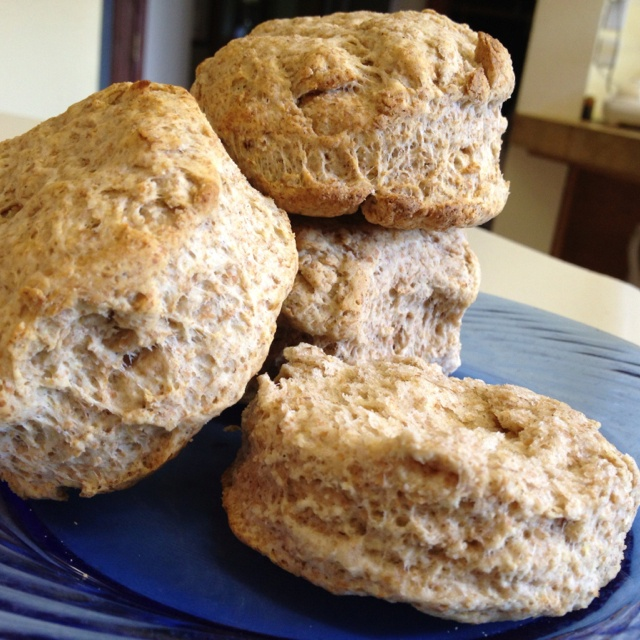 Granolaberry's 100% Whole Wheat Fluffy Biscuits 2 cups whole wheat ...