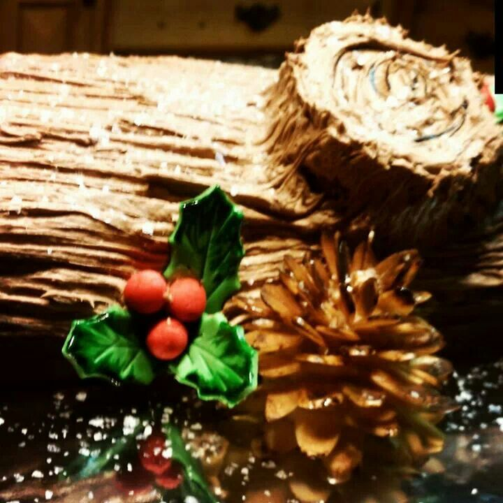 Christmas yule log cake | My Cakes | Pinterest