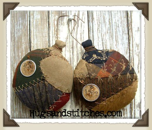 Crazy quilt ornaments...