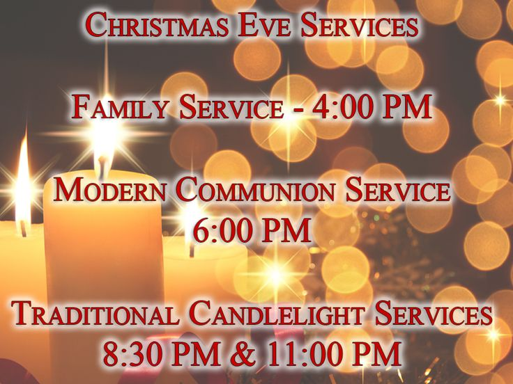 Services available on christmas eve our family christmas eve service