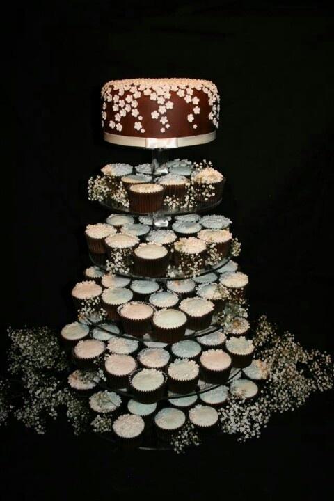 Chocolate wedding cupcakes   navids wedding   Pinterest