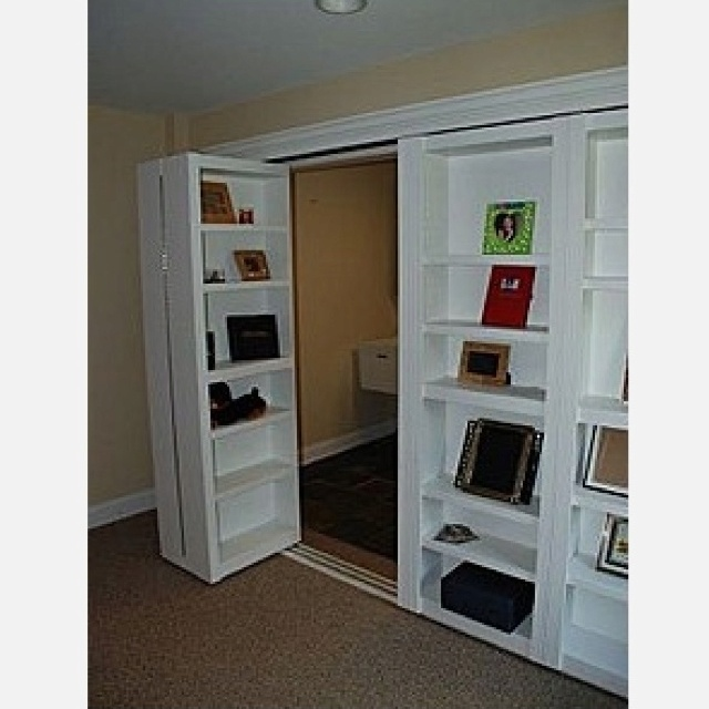 closet door bookcase for the home pinterest