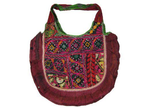 Bohemian Handbag Vintage Mirror Embroidered Tote Womens Fashion