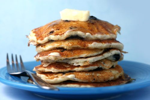 Blueberry Cornmeal Pancakes with Orange Maple Butter - These were very ...