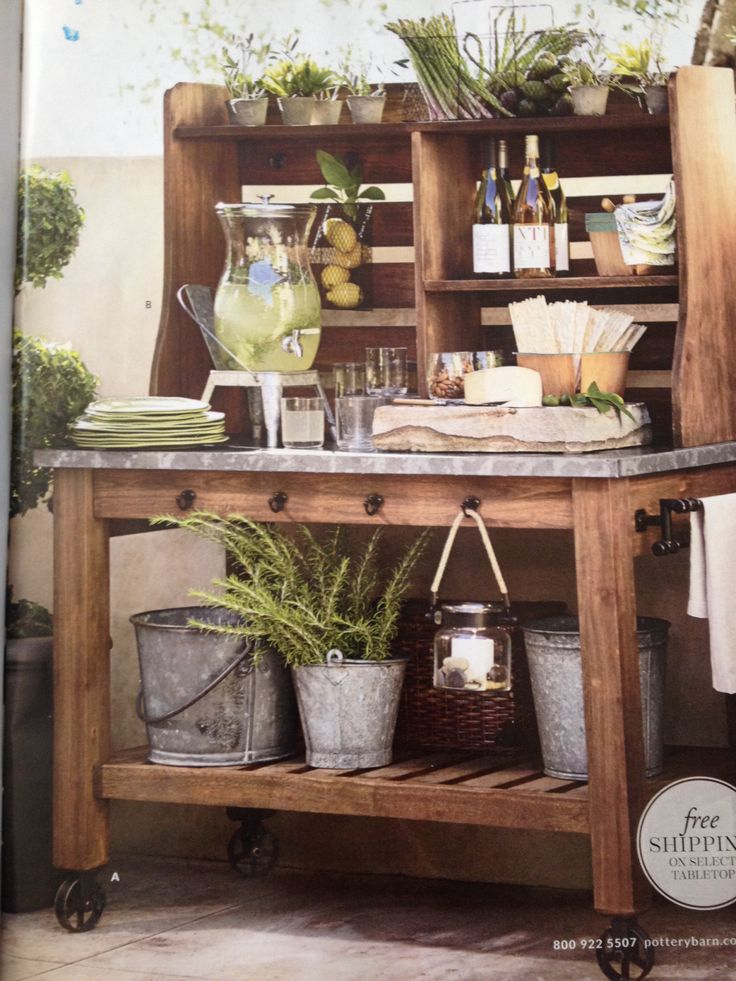 Potting bench bar outdoor entertaining pinterest Outdoor potting bench