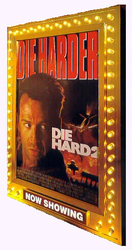 Movie poster frames with lights