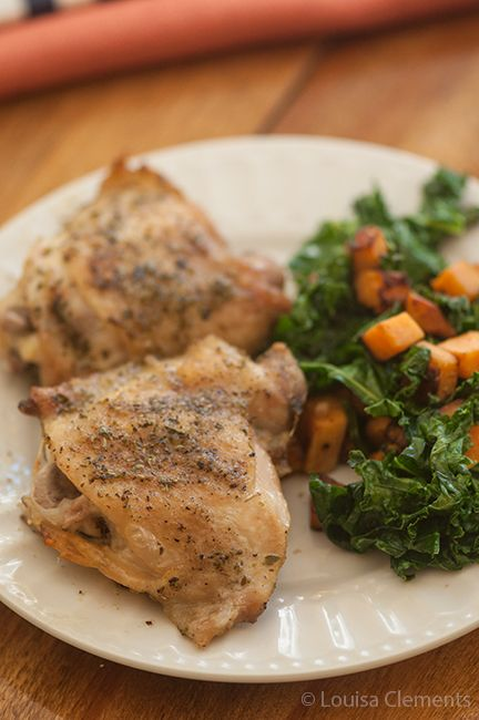 perfectly roasted chicken thighs, I used legs and thighs, definitely ...