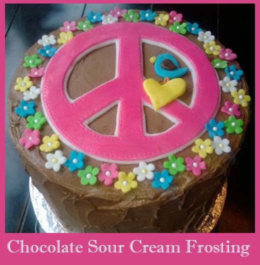 Chocolate Sour Cream Frosting YUM. | Yummy eats... | Pinterest