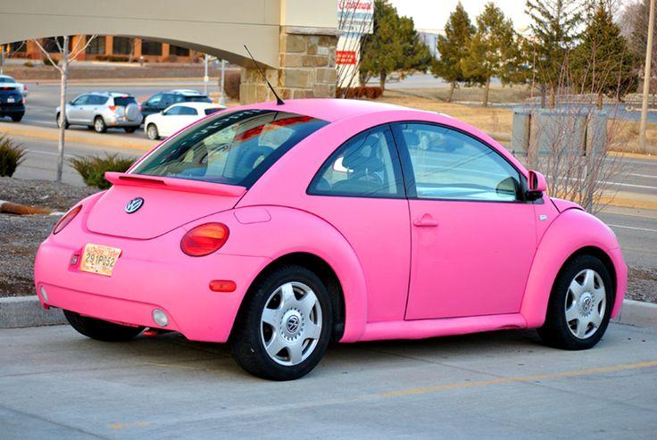 pink vw beetle pink addiction cars pinterest. Black Bedroom Furniture Sets. Home Design Ideas