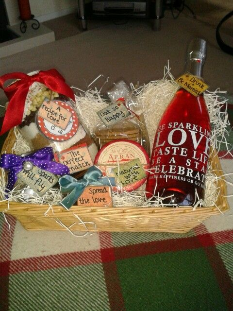 Homemade Wedding gift basketI used different labels for each gift ...
