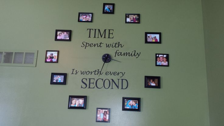 picture frame wall clock dream home pinterest