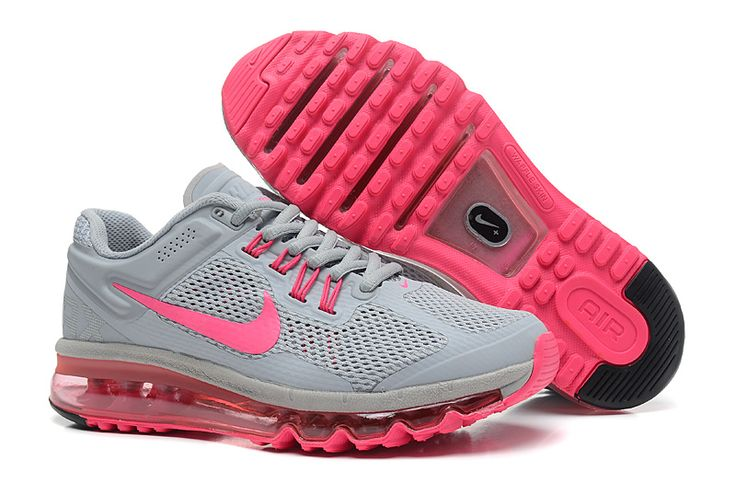 Grey Pink Nike Air Max 2013 Women's Running Shoes #Grey #Womens