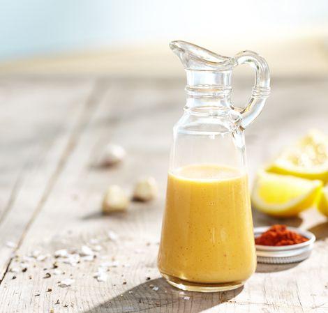 Lemon Garlic Dressing. Ingredients 1 lemon, peeled, halved, seeded 1/2 ...