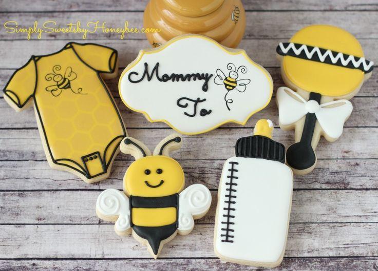 Bee shower | baby cookies | Pinterest