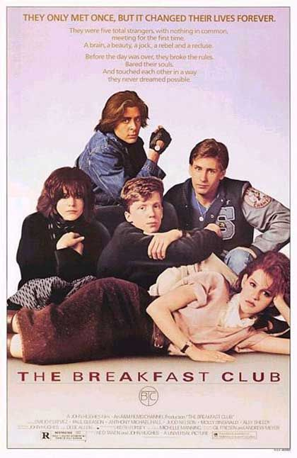 film analysis the breakfast club Emilio estevez, molly ringwald, anthony michael hall, judd nelson and ally sheedy are five students in saturday detention with nothing in common except.