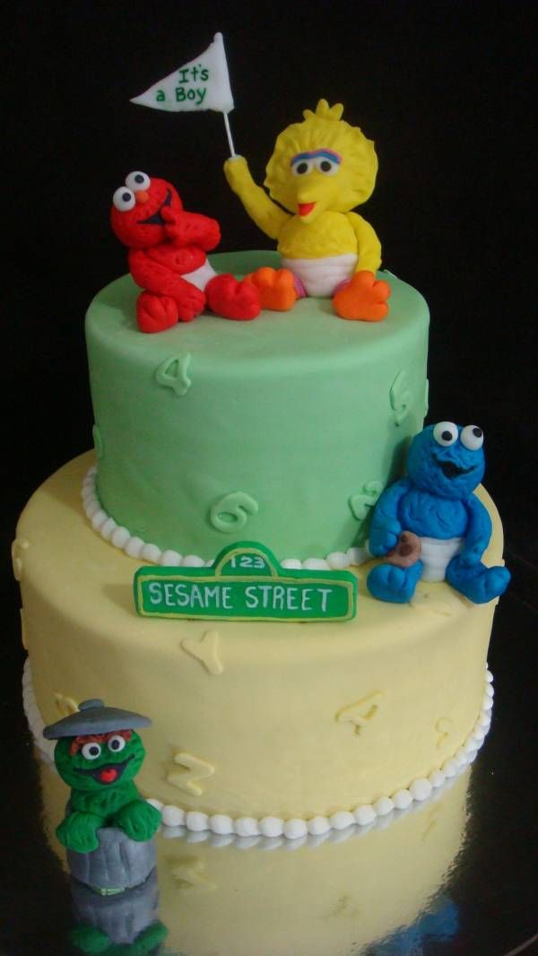 sesame street baby shower specialty cakes pinterest